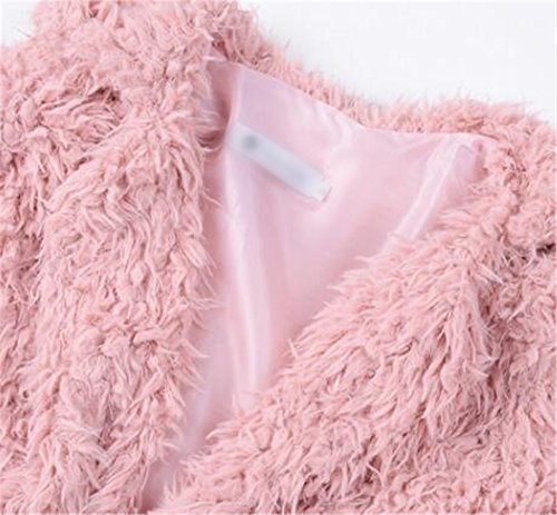 Outwear Casuales AILIENT Caída Chaquetas Abrigo Sweater Rosa Coat Peludos Hipster Mujer Invierno Jacket Coat Elegantes FFz7nr8wq