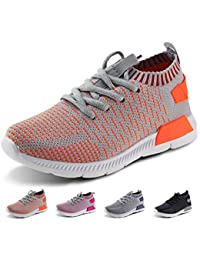 Kids Running Shoes Boys Girls Lightweight Breathable Easy Walk Knit Sneakers
