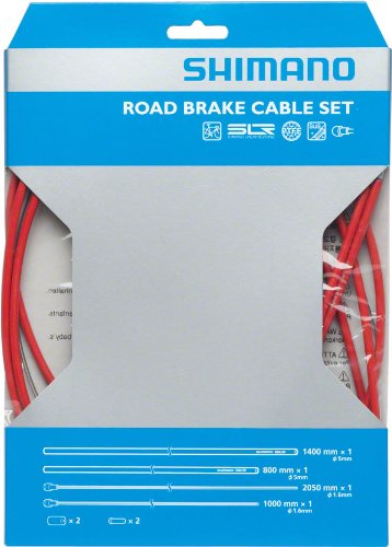 SHIMANO PTFE Road Brake Cable and Housing Set (Red)