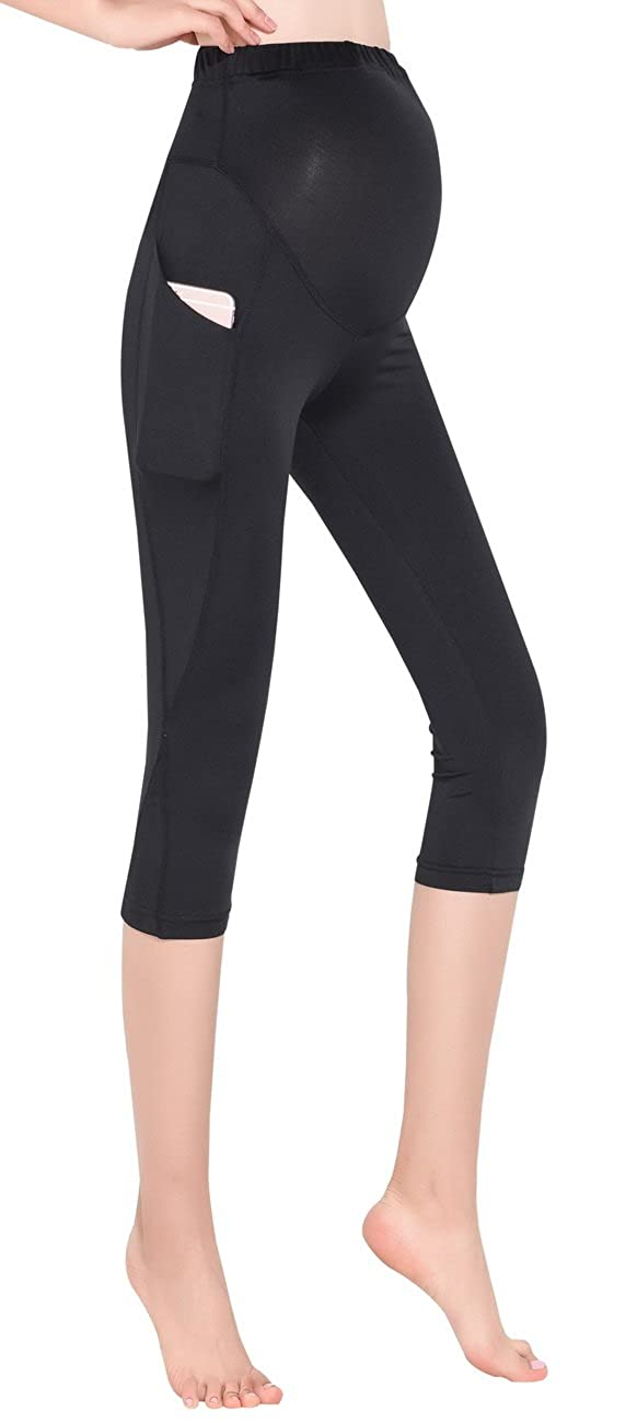 ef1055ebc7038 87%Nylon/13%Spandex.3D cutting maternity yoga pants with full-panel  coverage supports your belly without excess pressure on any specific point.