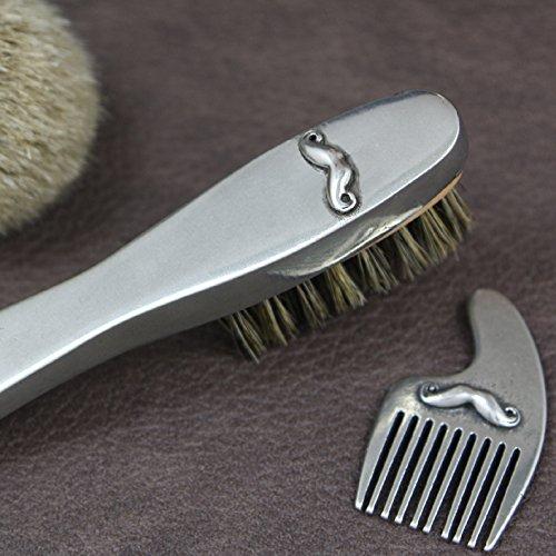 English Pewter Company [MG001] Moustache Beard Brush
