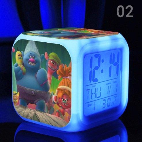 Dreamworks Trolls Characters LED Kids Alarm Clock