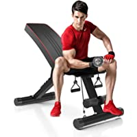 Dripex Adjustable Folding Weight Bench (2020 Upgraded Version), 330lbs Capacity Decline Incline Bench Press Workout…