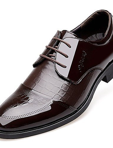 ShangYi Oxford-Schuhe Herrenschuhe Büro / Lässig Oxfords Lackleder Schwarz / Braun Brown