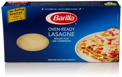 Barilla Pasta, Oven-Ready Lasagne, No Boil Lasagne Pasta, 9 Ounces (Best Pre Made Lasagna)