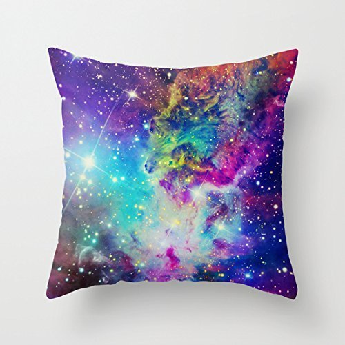 Beautiful Fox Nebula Galaxy Polyester Throw Pillow Covers Decorative  Cushion Covers 16 X 16 For Couch