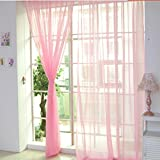 dark grey curtains next LtrottedJ 1 PCS Pure Color Tulle Door Window Curtain Drape Panel Sheer Scarf Valances (J)