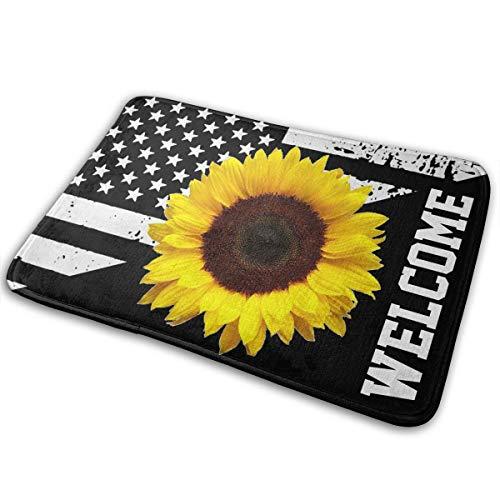 Sunflower Clipart Outdoor Skid Resistance Door Mat For Garage Patio High Traffic Areas Shoe Rugs Carpet