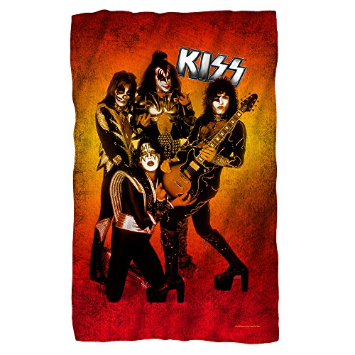 Kiss - Fire Pose - Fleece Throw Blanket (Blink 182 All The Small Things Rock Band)