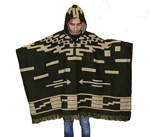 Wigwam Stijlvolle handgemaakte Mexicaanse stijl poncho met capuchon