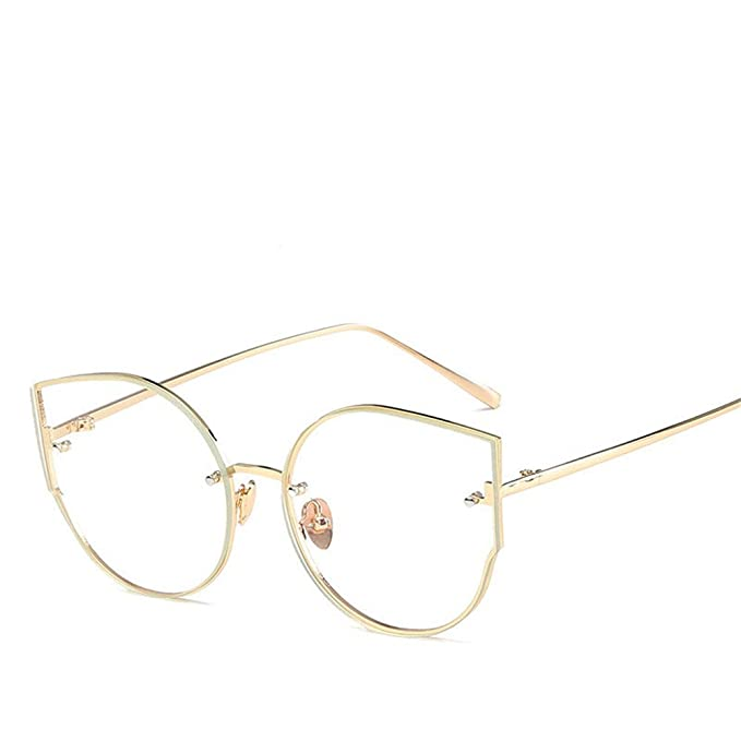 9f12ea62a4 Chahua Moderna americana y europea gafas de ojo de gato hombres y señoras  retro gafas de sol Gafas de sol de moda, oro: Amazon.es: Ropa y accesorios