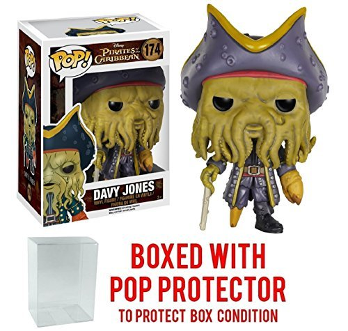 Funko Pop! Disney: Pirates of the Caribbean - Davy Jones Vinyl Figure (Bundled with Pop BOX PROTECTOR CASE)