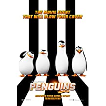 PENGUINS OF MADAGASCAR 13.5x20 INCH D/S PROMO MOVIE POSTER