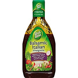 Wish-Bone Balsamic Vinaigrette Dressing, 15 FL OZ 6 One 15 fl oz bottle of Wish-Bone Balsamic Vinaigrette Dressing Adds perfectly balanced flavor to your favorite recipes Made with balsamic vinegar, a robust blend of herbs and cracked pepper, and extra virgin olive oil