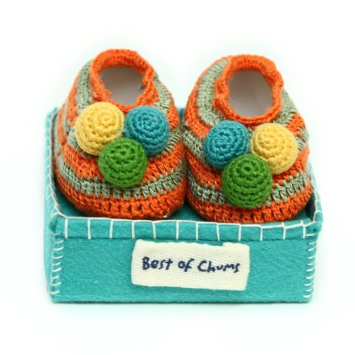 Best of Chums Baby Crochet Booties (6-9 mth) Pre-Walker Booties, Baby Shower Gift