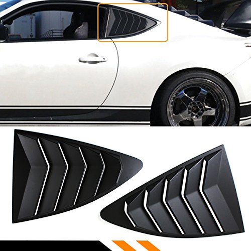 Cuztom Tuning Fits for 2013-2019 Scion FR-S/Toyota 86 & Subaru BRZ ABS 1/4 Quarter Panel Side Vent Window Louver Covers