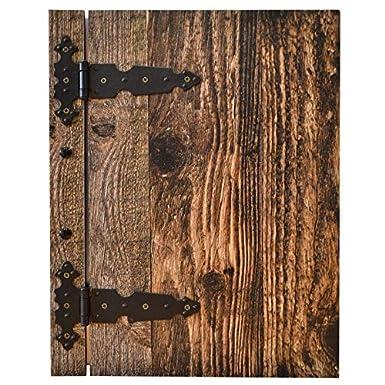 Buvette Caf/é Bar Prot/ège menus en bois Carte menu Securit Pr/ésentoir Holzwurmoptik A4 Pour Restaurant Bistro Possibilit/é Gravure logo gratuite Ascot Brown
