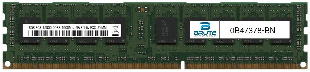 0B47378 - IBM Compatible 8GB PC3-12800 DDR3-1600Mhz 2Rx8 1.5v ECC UDIMM