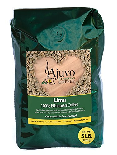 Ethiopian Limu Coffee - Roasted, Whole Bean (5 lb)