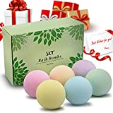 Bath Bombs Gift Set 6 Vegan Natural Essential Oil Moisturize Large Lush Bath Fizzies Bombs Relaxation Kit Spa Bombs Handmade Bath Salts Balls Beads Bubbles Treats for Women Men Girls Boys in All Ages