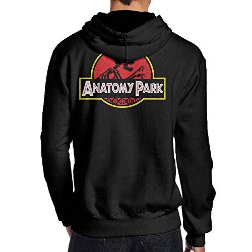 Psy B015GIK26M-Anatomy Park Rick And Morty Black Print Sweatshirts For Men Size M Black