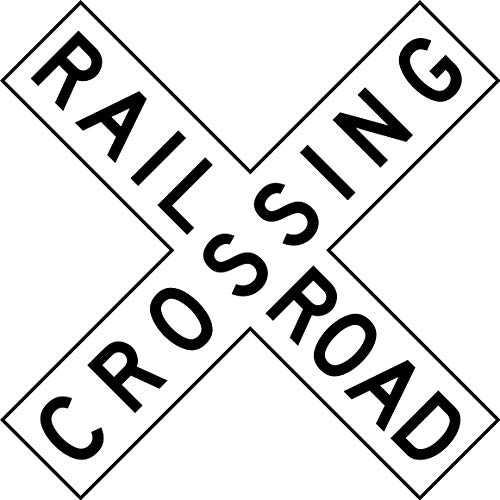 Traffic Signs - Railroad Crossing (crossbuck 12 x 18 Plastic Sign Street Weather Approved Sign