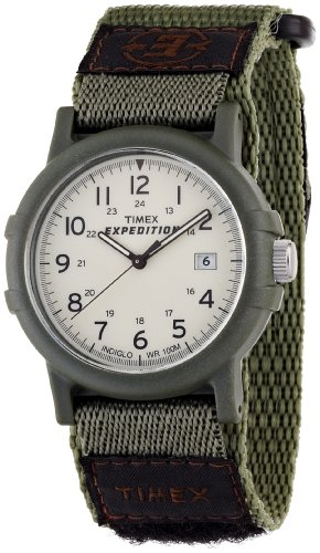 Timex Men's T49725 Expedition Camper Green Fast Wrap Velcro Strap Watch