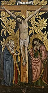 Oil Painting 'Sanchez Juan La Crucifixion Ca. 1460 ' Printing On Polyster Canvas , 8 X 16 Inch / 20 X 39 Cm ,the Best Living Room Decor And Home Gallery Art And Gifts Is This Cheap But High Quality Art Decorative Art Decorative Canvas Prints