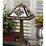 NFL Mission Style Stained Glass Table Lamp NFL Team: New Orleans Saints