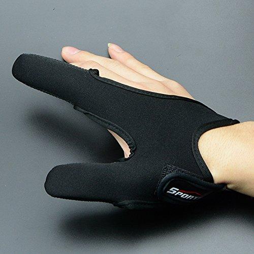Professional Thumb + Index Finger Neoprene Glove for Fishing - Black