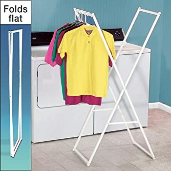 this item storage dynamics folding clothes rack - Clothes Racks