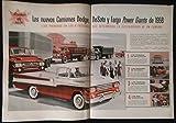 1958 CHRYSLER CORPORATION EXPORT DODGE - DE SOTO - FARGO POWER GIANT TRUCKS (CAMIONES)