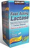 Kirkland Signature Fast Acting Lactase - 180 Caplets