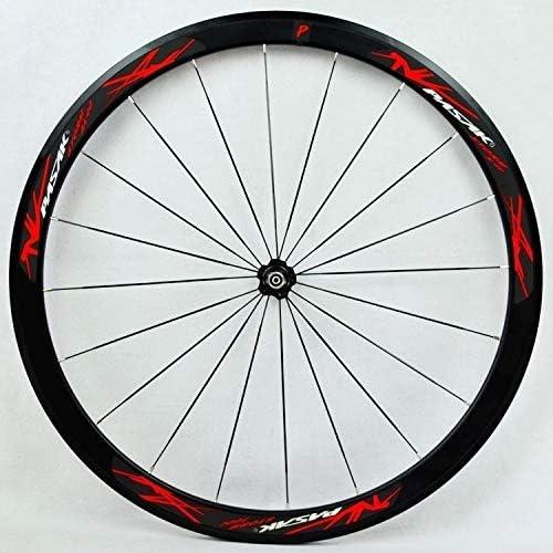 Bike Wheelset 7-12スピードフリーホイールC / Vブレーキクイックリリースフロント20Hリア24H輪用の700Cロードバイクホイールセットスーパーライト自転車ホイール40ミリメートルの深さ (Color : E)