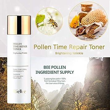 Biellee Pollen Time Repair Brightening Wrinkle Toner 140ml 4.7oz Noni Bee pollen Niacinamide Oil-water balance care Fresh toner