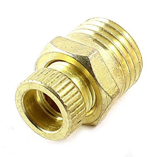 Valvula de entrada de agua - SODIAL(R)2 piezas 1/4 ' PT valvula de entrada de agua de metal roscado de macho para compresor de aire Oro