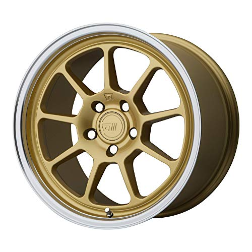 MOTEGI RACING Custom Wheel Rim MR135 Gold Center with Machined Lip (17