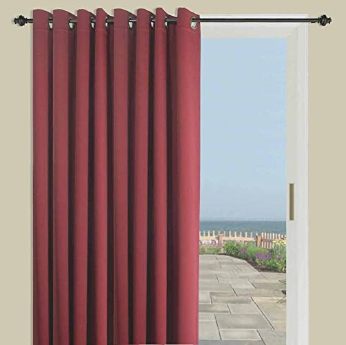 Ricardo Trading Ultimate Blackout Solid Color Grommet Single Curtain Panel
