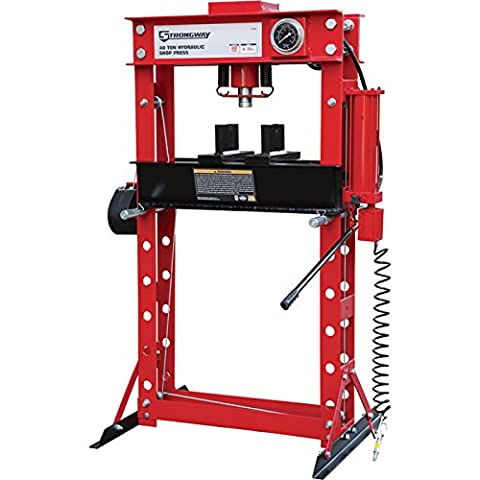 Strongway Air/Hydraulic Shop Press with Gauge and Winch - 40-Ton Capacity (Band Saw Hydraulic Cylinder)