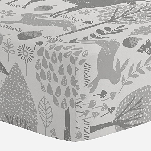 Carousel-Designs-Gray-Woodland-Animals-Crib-Sheet-Organic-100-Cotton-Fitted-Crib-Sheet-Made-in-the-USA