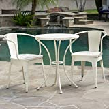 NEW 3-piece Off-White Cast Bistro SetRustic Modern Outdoor