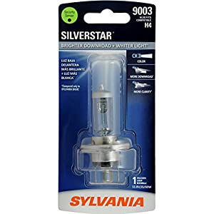SYLVANIA 9003 (also fits H4) SilverStar High Performance Halogen Headlight Bulb, (Contains 1 Bulb)