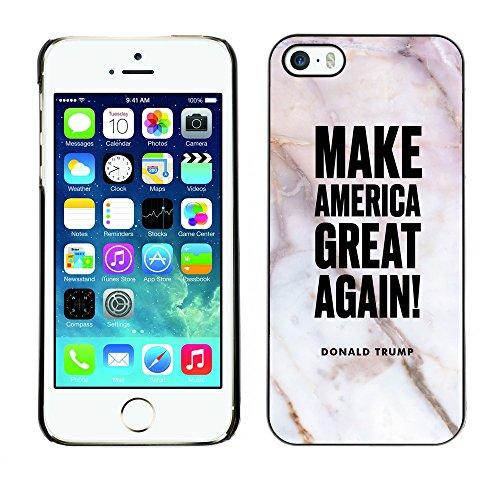 Print Motif Coque de protection Case Cover // Q04060533 Trump Américain marbre closeup // Apple iPhone 5 5S 5G