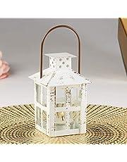 Kate Aspen 14110WT Vintage White Distressed Small Candle Lantern One Size