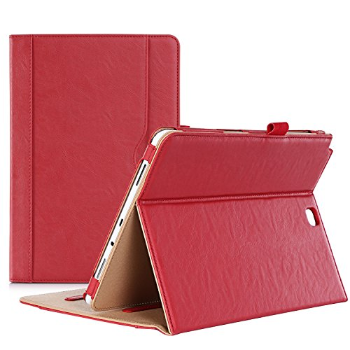 ProCase Samsung Galaxy Tab A 9.7 Case - Standing Cover Folio Case for 2015 Galaxy Tab A Tablet (9.7 inch, SM-T550 P550), with Multiple Viewing Angles, auto Sleep/Wake, Document Card Pocket (Red)