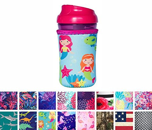 - Koverz for Kids - #1 Neoprene Baby Bottle/Sippy Cup Insulator Cooler Coolie - Choose from 30+ Styles! - Mermaids