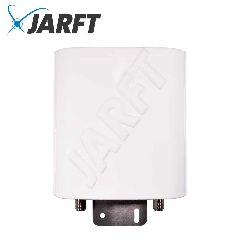 JARFT J4GMB-12-OMOA LTE Rundstrahlantenne inkl. 10m Twin-Kabel mit SMA Stecker | Leistungsstarke Multi-Band 800/1800/2600 MHz LTE / 4G Antenne, 12dBi Leistungsgewinn, Wetterfest