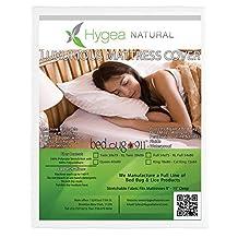 Hygea Natural Mattress Cover or Box Spring Cover | Luxurious   100% Waterproof Mattress Protector - Dust Mite & Allergen Proof Mattress Encasement, California King