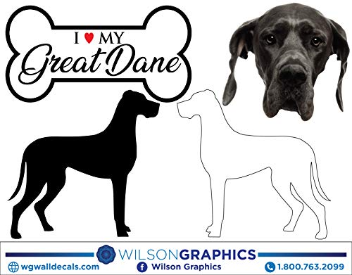 - Great Dane - Dog Breed Decals (Set of 16) - Sizes in Description
