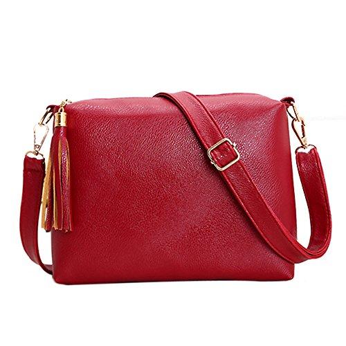 Loisirs Bandoulière Rouge La Bandoulière Tassel cuir Femmes Sac à Bag Fille PU Sac Cabina Lady Crossbody d'épaule mode Sac Vintage qrxwqWHv7